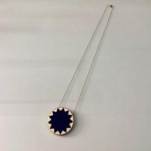 House of Harlow 1960 leather sunburst necklace